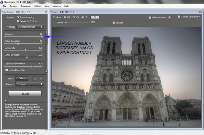 how to remove halos in Photomatix