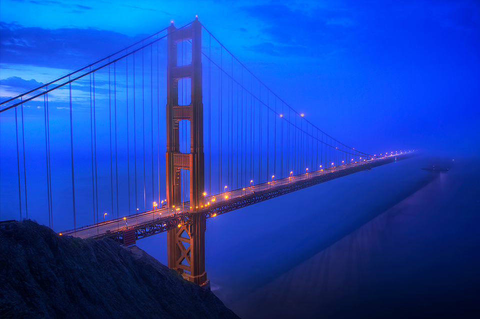 golden gate bridge blue - photo #3