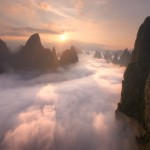 guilin fog at sunrise 2