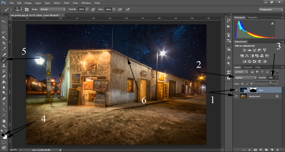 how to add the Milky Way in photos tutorial