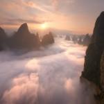 guilin fog at sunrise 2
